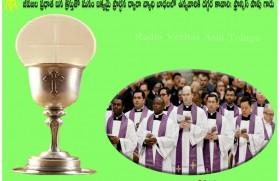 Pope thanks priests